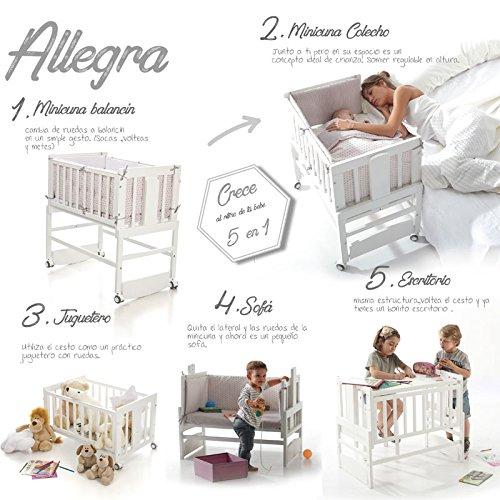 Bolin Bolon Coleccion 2018 Minicuna colecho Allegra con vestidura TRIXY: Amazon.es: Bebé