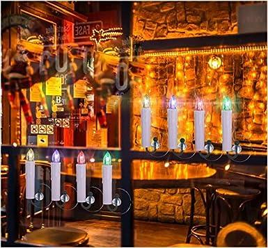 40//30//20//10x Weihnachtskerzen mit Batterien Timer /& Fernbedienung LED Kerzen Flammenlose Lichterkette mit Zubeh/örset f/ür Au/ß-Innen Weihnachtsbaum Hochzeit Geburtstags Party Deko Kabellose Kerzen 40x