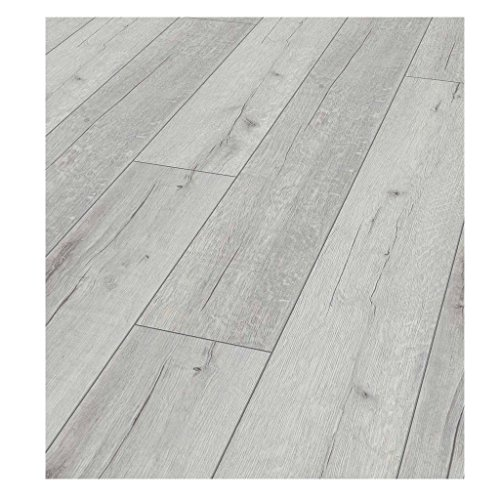 Westco KT12D3181 12mm Rip Oak Laminate Contract Flooring Plank - White by Westco