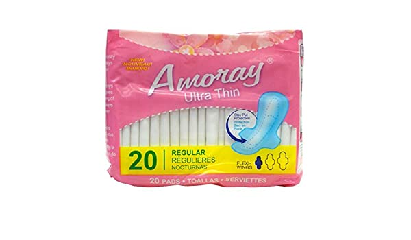 Amazon.com: Amoray Pads Ultra Thin Regular 20PK , Case of 48: Health & Personal Care