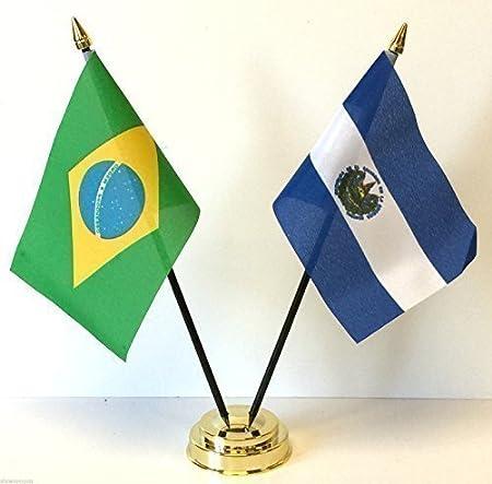 Rio 2016 Juegos Olímpicos Brasil y El Salvador de la amistad de la bandera de mesa de juego de + Base: Amazon.es: Hogar