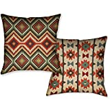 Laural Home Country Pattern II Decorative 18 Inch Throw Pillow