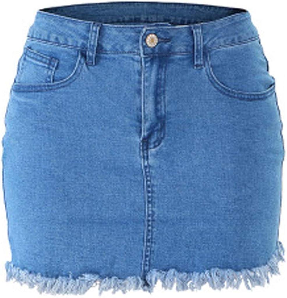 Sylar Casual Mini Faldas De Mezclilla Falda Vaquera Mujer Faldas ...