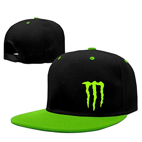 Custom Unisex Energy Claw Snapback Baseball Cap Hats KellyGreen