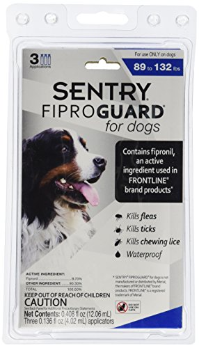 Sergeants Pet Care - Sergeants Pet Care Prod 3 Count Sentry Fiproguard Dog Flea and Tick Squeeze-On Drop, 89-132 lb.