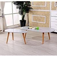 US Pride Furniture CT-238-Light Grey 2-Piece Wood Coffee Table Set, Light Grey