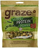 Graze Natural Veggie Protein Power Snack Mix with Spicy Chickpeas, Edamame Beans and Black Pepper Cashews, Tasty, Healthy, Natural Nut Trail Mix, 4.2 Ounce Shareable Bag