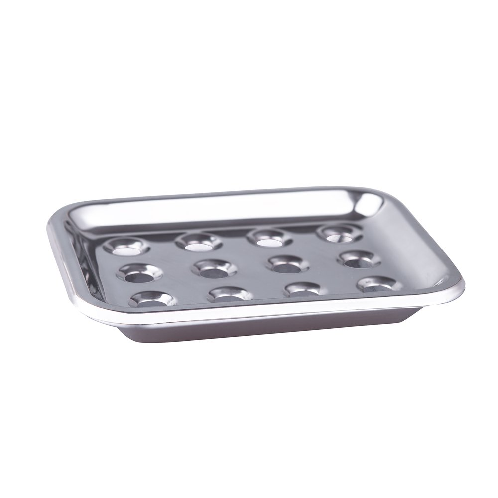 IMEEA, portasapone in acciaio inox con vassoio, ideale per bagno, doccia, cucina