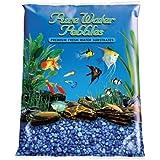 Pure Water Pebbles Aquarium Gravel, 2-Pound, Marine Blue
