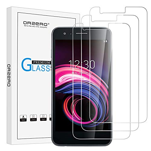 [3 Pack] Orzero for LG Aristo 3 / Tribute Empire/Phoenix 4 Tempered Glass Screen Protector, 2.5D Arc Edges 9 Hardness HD Anti-Scratch Bubble-Free [Lifetime Replacement Warranty] ()