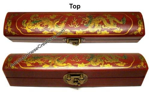 - Chinese Gifts / Chinese Folk Art: Chinese Wooden Jewelry Box - Dragon & Phoenix