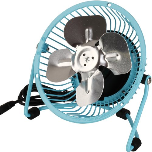 Comix Mini Personal Desktop Fan, 4'', Metal Design, Quiet Operation, Air Radiator for Laptop,USB Cable Powered, Blue (L602) by Comix (Image #3)