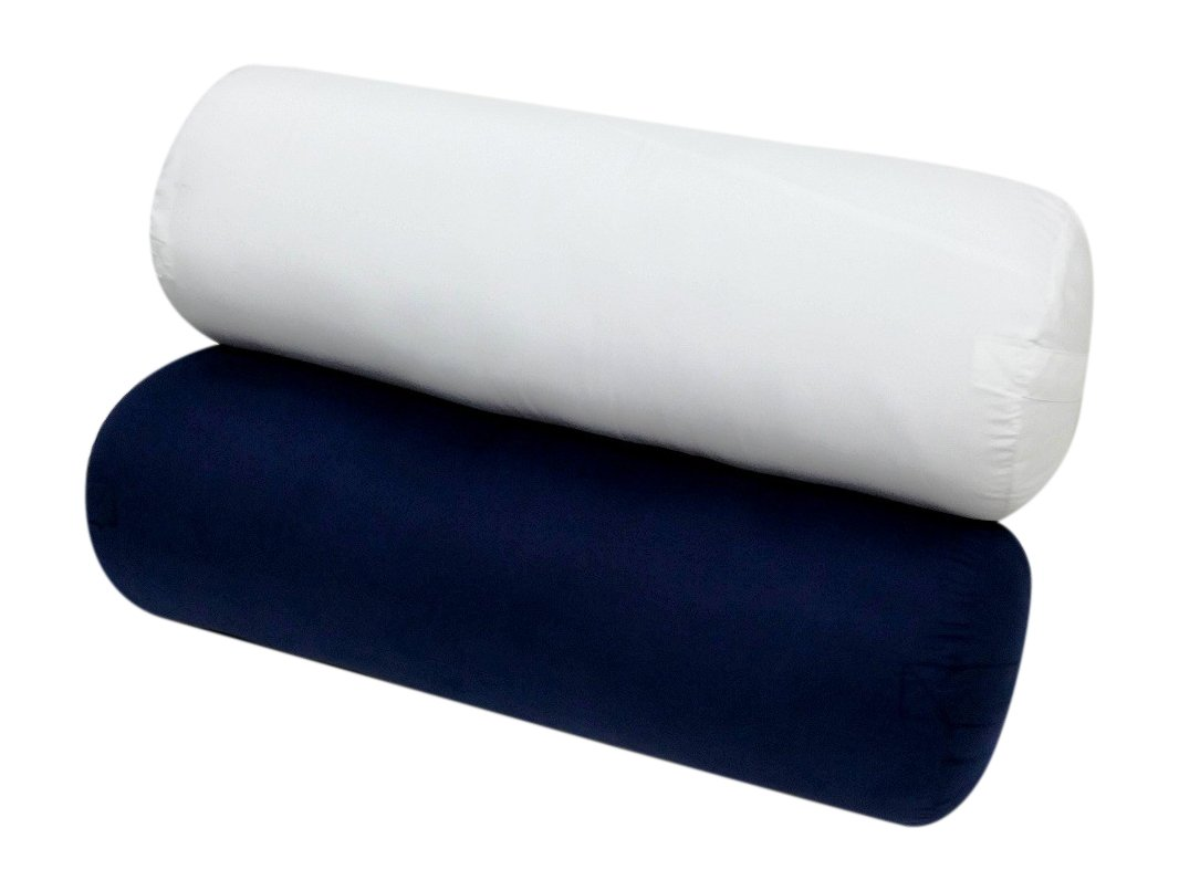 amazoncom yoga bolster 28l x 10 supportive roundwhite exclusively by blowout bedding rn sports u0026 outdoors - Yoga Bolster