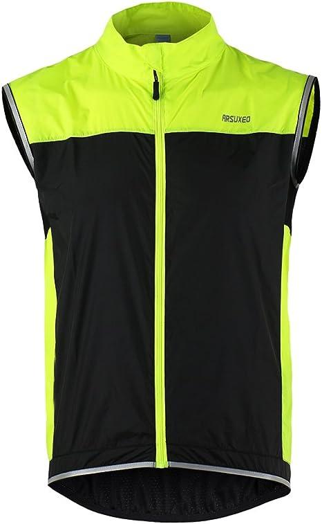 Lixada ARSUXEO Hombres Chaleco de Bicicleta Ultradelgada Chaqueta ...