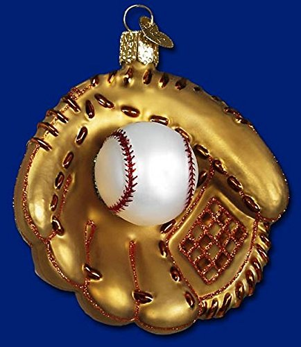 Old World Christmas Baseball Mitt Glass Blown Ornament Baseball Christmas Ornaments