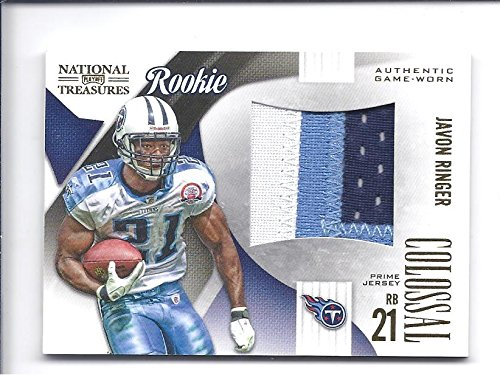 JAVON RINGER 2009 Playoff National Treasures Colossal Materials #9 Prime Parallel JERSEY PATCH ROOKIE CARD RC #06 of only 25 Made! Tennessee Titans Football ()