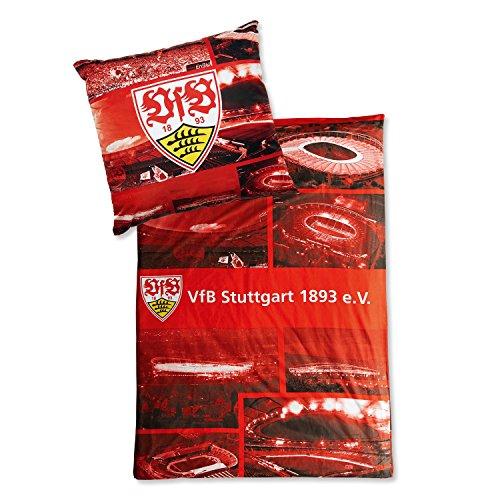 Vfb Stuttgart Bettwäsche 100 Baumwolle Kissen 80x80cm Decke 135x200