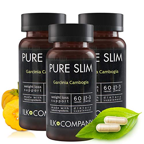 100% Garcinia Cambogia Weight Loss - Fast Acting Diet Pills That Work Fast for Women & Men - Made in USA - 60 Vegetable Capsules (3 Bottles)