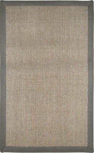 Nice Sisal Gray Border Rug Rug Size: 3u0027 X ...