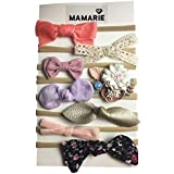 Baby Girl Headbands and Bows, Nylon Headbands, Hair Accessories for Newborn Infant Toddler Girls