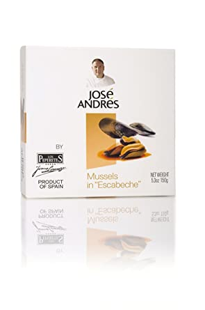 Jose Andres Foods Mussels in Escabeche, 5,3 oz: Amazon.com ...