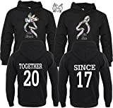 Her Buck His Doe Together Since Couple Matching Hoodies Pull Over L Men - M Women