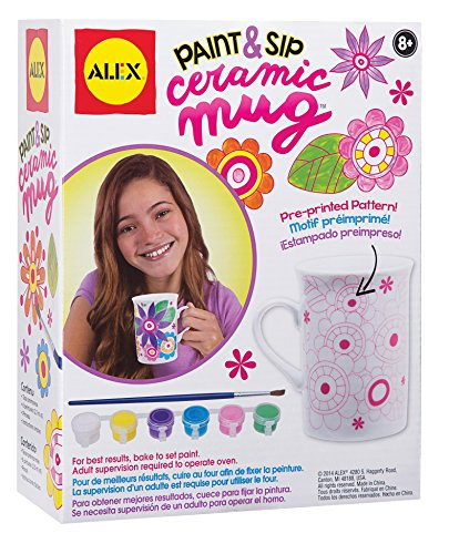 Alex toys craft paint and sip ceramic mug import it all for Alex paint porcelain jewelry