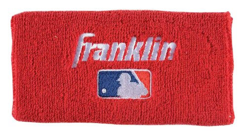 Franklin Wristband (Franklin Sports Professional Wristbands, Red, 6-Inch)