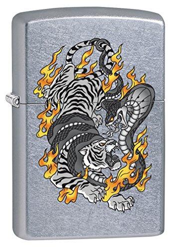 Zippo Lighter: Tiger Tattoo - Street Chrome 76437