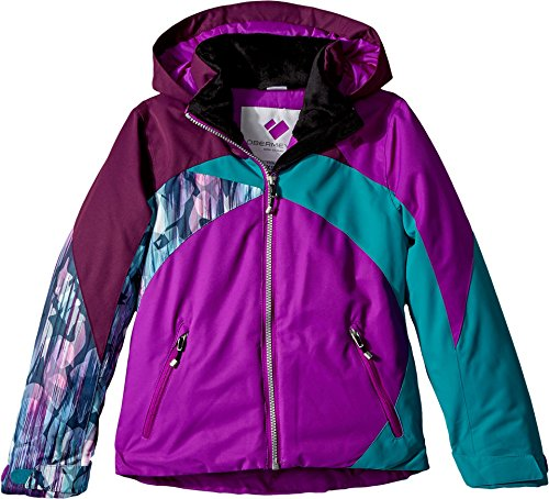 Obermeyer Kids Girl's Tabor Jacket (Little Kids/Big Kids) Violet Vibe Medium (Jacket Ski Insulated)