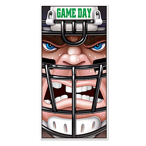 Beistle Football Door Cover, 30 by 5-Feet, (Tailgate Decor)