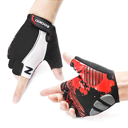 Zookki Cycling Gloves Mountain Bike Gloves Road Racing Bicycle Gloves Light Silicone Gel Pad Riding Gloves Half