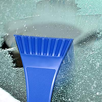Mudder 4 Pieces Ice Scraper Set CarSnow Ice Scraper with Foam Grip Plastic Frost Ice Scraper Car Snow Removal Shovel Tool for Car Small Truck Vans Windshield Window: Automotive