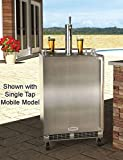 """Marvel MO24BTS2LS 24"""" Built-in Twin-Tap Beer Dispenser with Half-Barrel Capacity 2 Stow-on-Board Refrigerator-Convertible Shelves Standard Door Lock 5 lb. CO2 Tank and Lo-Boy Coupler: Left review"""