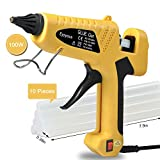 100W Hot Glue Gun, Ejoyous Professional Industrial Melt Glue Gun Kits with 10 Pcs Glue Sticks, Copper Nozzle and ON-Off Switch for DIY Small Craft Projects & Sealing and Quick Repairs (Yellow)