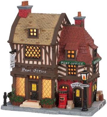 Lemax Porcelain Building Tudor Post Office 9 Tall
