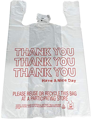 Reli. Thank You T-shirt Bags (350 Count) (11.5