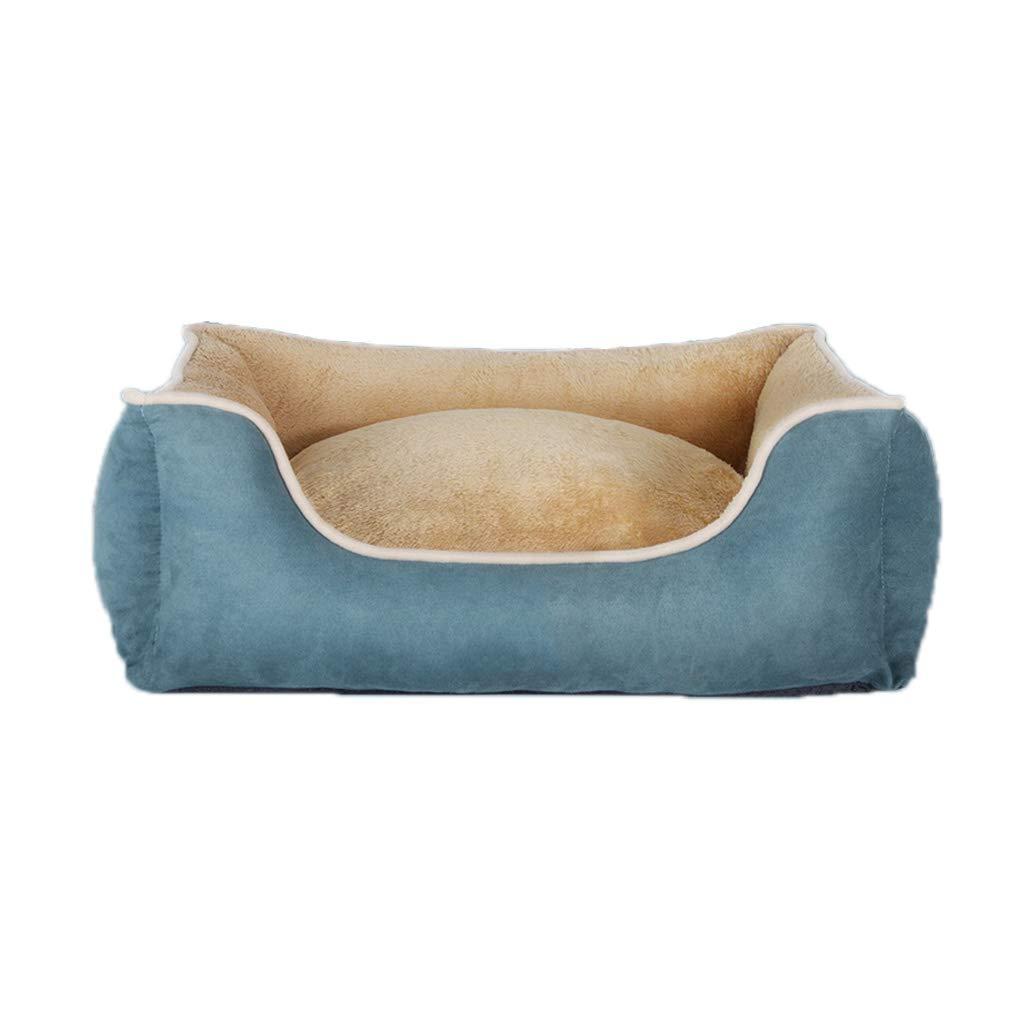 bluee L bluee L WANGXIAOLIN Dog Bed, Cat Nest, Pet Supplies, Semi-Closed Cat Litter, Doghouse, Four Seasons (color   bluee, Size   L)