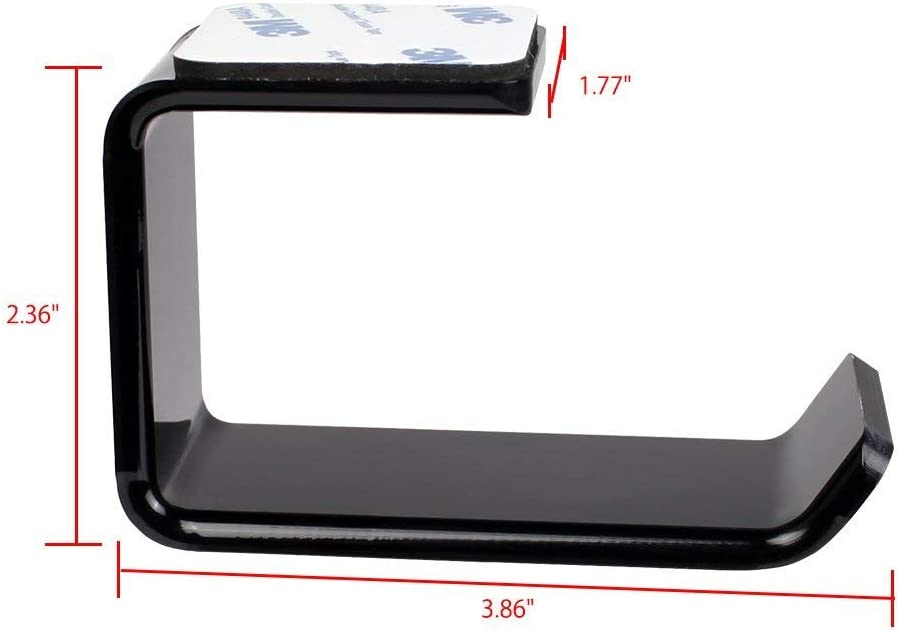 Hilai Soporte de pared para cosm/éticos y almohadillas de algod/ón dispensador con aperturas de f/ácil acceso