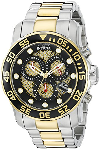 Invicta Men's 19839SYB Pro Diver Swiss Quartz Two-Tone Stainless Steel Watch