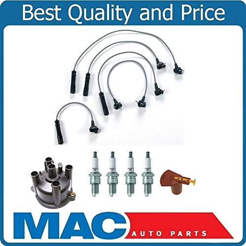 100% New Ignition Wires Cap & Rotor NGK Plugs for Toyota PICKUP & DLX 2.4L 93-95 Mac Auto Parts