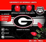 Let's Light It Up Officially Licensed College Christmas Lights (University of Georgia)