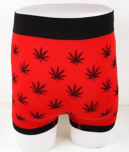 Boxers slips fantaisie pour hommes feuilles de marijuana