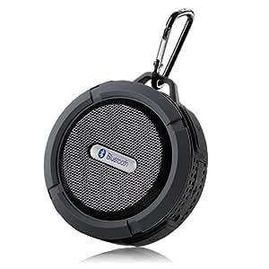 Wireless bestdeal® Bluetooth, impermeable y resistente a los golpes para ducha-Altavoz estéreo portátil con micrófono integrado para teléfono Meizu MX5-() Gris