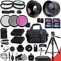 Ultimate 32 Piece Accessory Kit for Nikon D5500 D5300 D5200 D5100 D3300 D3200 P7800 P7700 P7100 P7000 Cameras Includes 58mm High Definition 2X Telephoto Lens + 58mm High Definition Wide Angle Lens + MORE