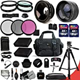Ultimate 32 Piece Accessory Kit for Nikon D5500 D5300 D5200 D5100 D3300 D3200 P7800 P7700 P7100 P7000 Cameras Includes 58mm High Definition 2X Telephoto Lens + 58mm High Definition Wide Angle Lens + MORE