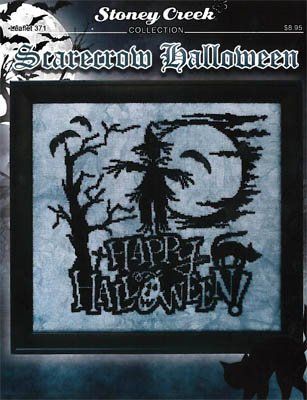Scarecrow Halloween (Leaflet 371) Cross Stitch Chart and Free Embellishment]()
