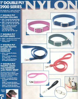Coastal Pet Products C Nylon Double Ply Traffic Lead 1 Inch x 2 -