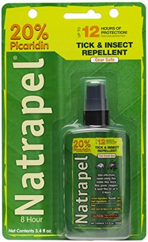 Natrapel 12-Hour Mosquito, Tick and Insect Repellent, 3.4 Ounce Pump