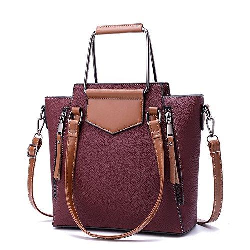 Shopping Large Bag Fashion Women Vintage Purple Shoulder Casual Capacity Bag Bag Bag Tote Women's Xqn8aY8P